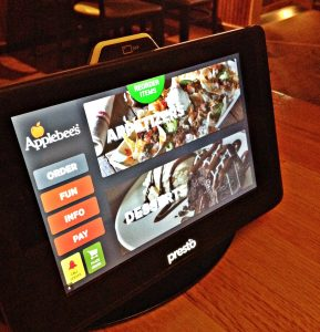 Applebees electronic tablet