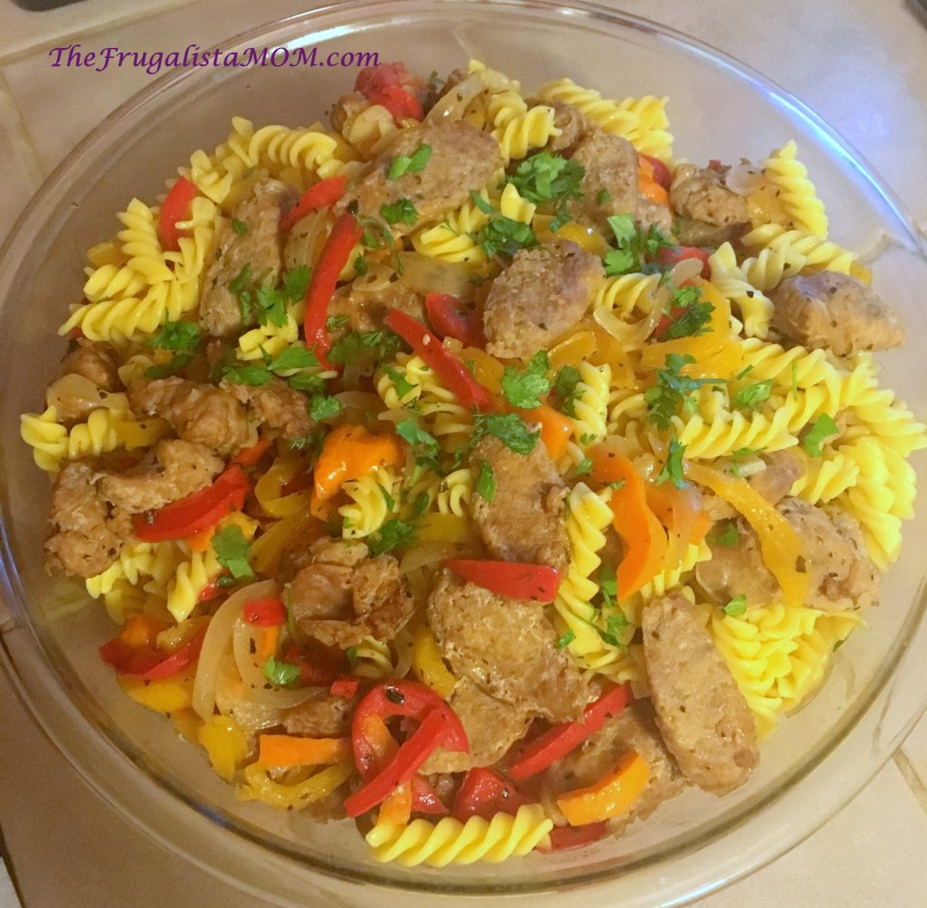 Gluten Free Sausage, Peppers and Pasta REcipe